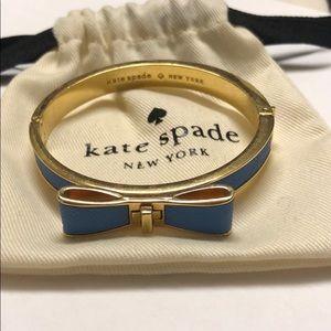 Kate Spade leather bow bangle